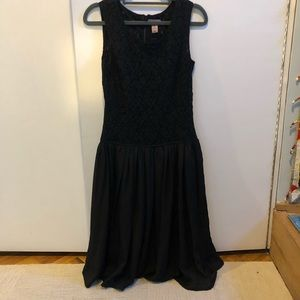 H&M Fit and Flare Black Lace Dress - Size 4